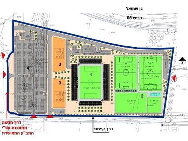 אושרה התכנית לבניית האצטדיון בחדרה