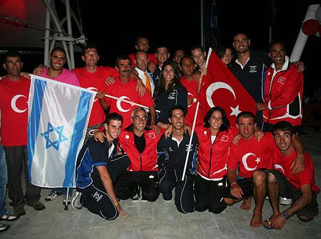 הנבחרת בסקי מים התקבלה בחום בטורקיה