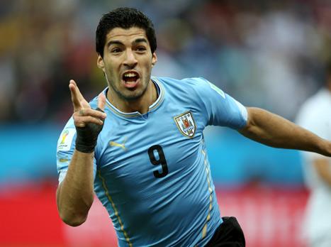 סוארס. הגיבור של אורוגוואי הוא האויב של אנגליה (gettyimages)