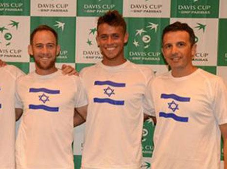 13:00: ישראל מול רומניה בגביע דייויס