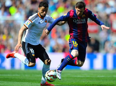 משחק סוער. מחצית: ברצלונה-ולנסיה 0:1