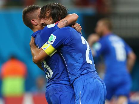 חגיגה גדולה שלהם. שחקני איטליה מאושרים (gettyimages)