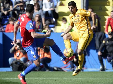 לחצו לזירה. דקה 80: לבאנטה - ברצלונה 1:0