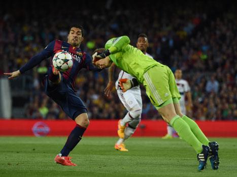 לחצו לזירה. דקה 40: ברצלונה - באיירן 0:0