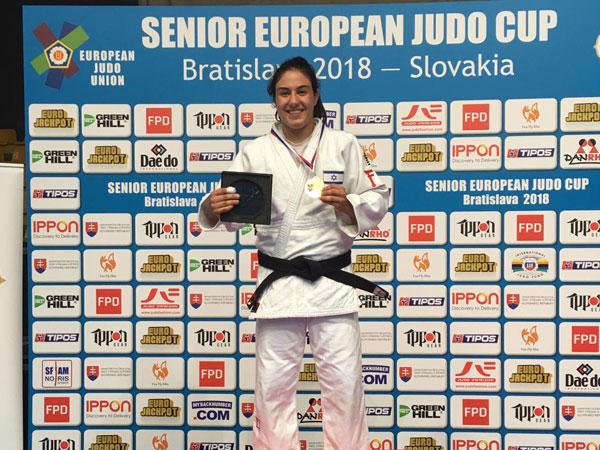 זהב לענבל שמש בגביע אירופה בברטיסלבה