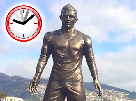 בפורטוגל נחשף הפסל של כריסטיאנו רונאלדו