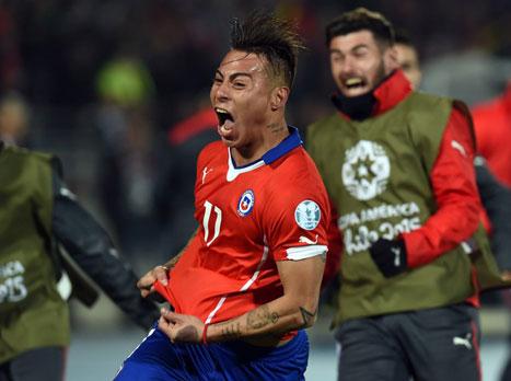צ'ילה בגמר הקופה אמריקה, 1:2 על פרו