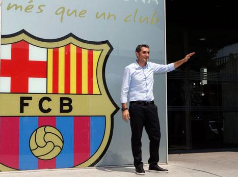 ברוך הבא. ואלוורדה (הטוויטר הרשמי של ברצלונה)