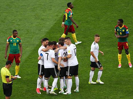 מחצית 2 בקונפדרציות: גרמניה - קמרון 1:3