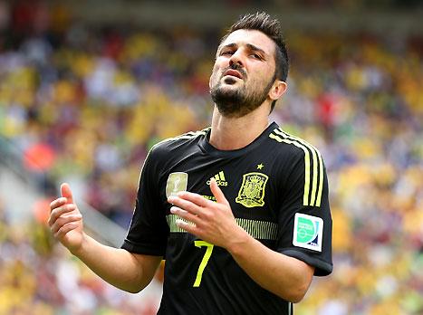 וייה. קריירה מטורפת עם 59 שערים במדי ספרד (gettyimages)