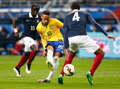 משחק ידידות, דקה 90: צרפת נגד ברזיל 3:1