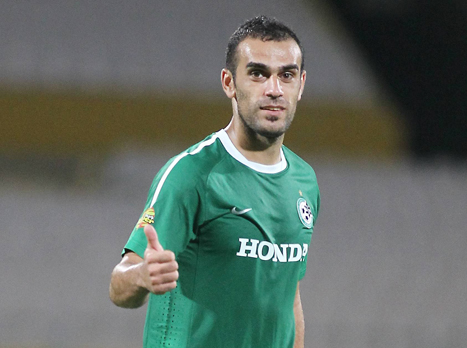 Tekkers! Wiyam Amasha (Maccabi Haifa) scores a rabona (!) v Hapoel Acre