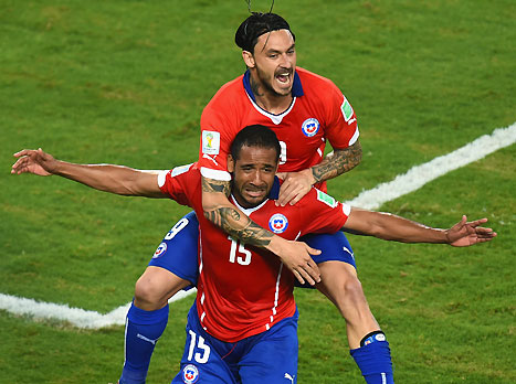 שלושה שערים וניצחון גדול לצ'ילה (gettyimages)