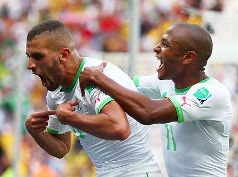 סלימאני, הנהיג את ההצגה של אלג'יריה (GETTYIMAGES)