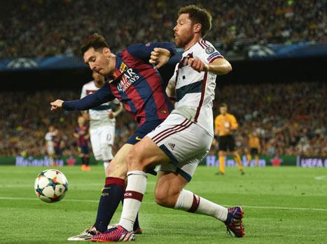 """""""אין כמוהו בכדורגל"""". מסי (gettyimages)"""