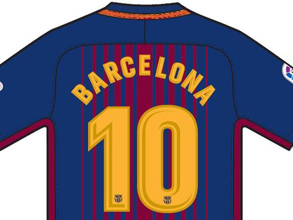 """השחקנים יעלו עם הכיתוב """"ברצלונה"""" על הגב"""