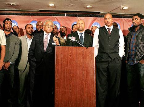 שחקני ה-NBA בחזית מאוחדת: לא להסכם (GETTYIMAGES)