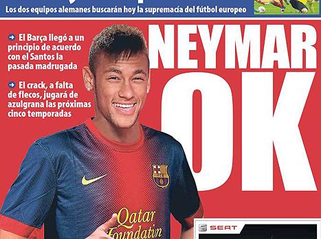 """בקטאלוניה משוכנעים שהוא כבר בחר (כותרת העיתון של """"אל מונדו דפורטיבו"""")"""