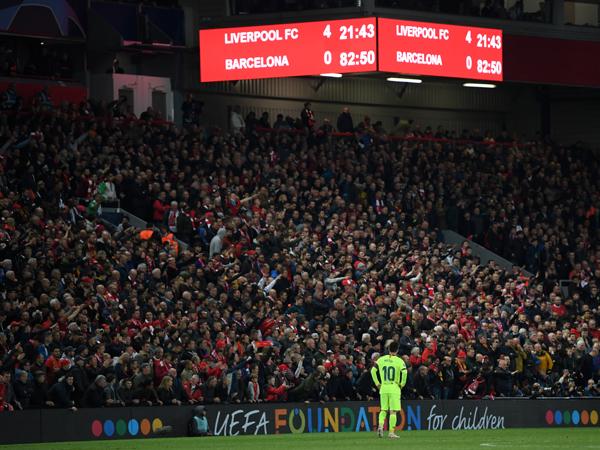 ברצלונה עדיין לא התאוששה מאירועי ליברפול (GETTY)