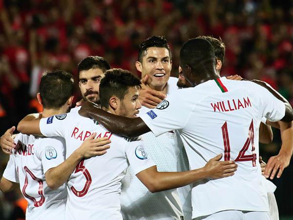 חגג והתקרב ליורו 2020. רונאלדו והחברים לפורטוגל (getty)