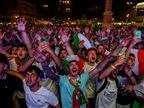נצבעה בכחול: צפו בחגיגות אוהדי איטליה