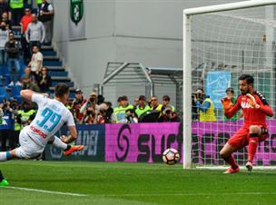 מיליק כבש, רק 2:2 לנאפולי מול ססאולו
