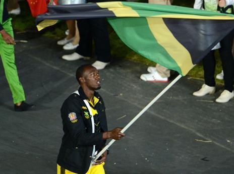 בג'מייקה עשו לו כבוד. נושא הדגל בלונדון 2012 (gettyimages)