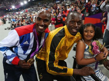 המלכים של האתלטיקה בלונדון 2012. בולט ופארח (gettyimages)