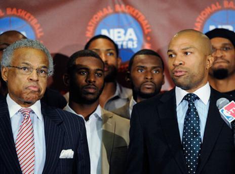 מעדיפים אותם בגופיות משחק. שחקני ה-NBA במהלך השביתה ב-2011 (gettyimages)