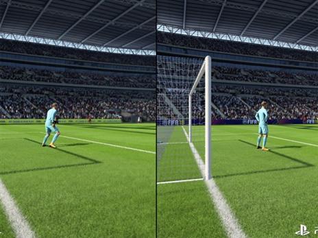 הדשא של השכן עם ה-PS4 Pro נראה טוב יותר. PRO מימין, PS4 משמאל.
