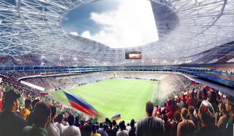 כך אמור היה להיראות האצטדיון מבפנים