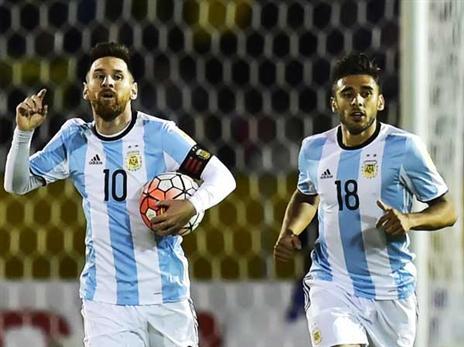 כל ארגנטינה על הגב שלו. מסי (Getty)