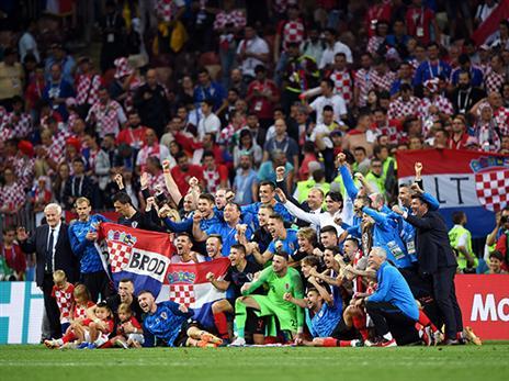 """כדורגל מדרא""""מ מתובל בפיזיות ובטקטיקה. קרואטיה חוגגת (getty)"""