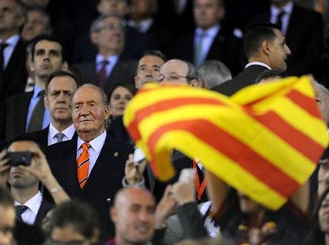 המלך חואן קרלוס ודגל קטלוניה, שילוב מוזר (gettyimages)