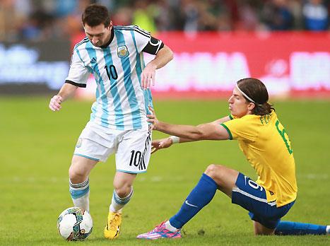 מסי, הפסיד גם לברזיל (GETTYIMAGES)