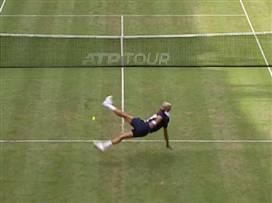 טניס רגל: פייר וטסונגה מאלתרים בטורניר קווינס