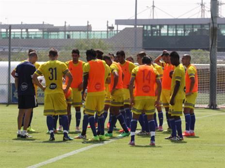 שחקני מכבי הבוקר באימון (באדיבות האתר הרשמי)