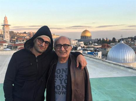 אספנדיארי עם אביו בירושלים (מתוך חשבון האינסטגרם שלו)