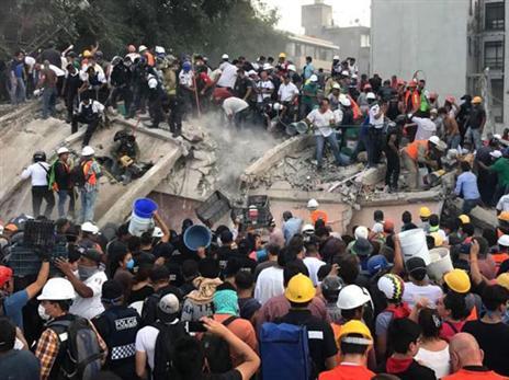 גם ישראל נחלצה לסייע למכסיקו בעקבות רעידת האדמה