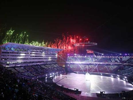 הטקס המרהיב בפיונגצ'אנג (Getty)