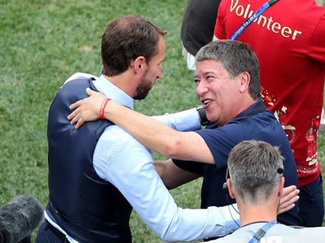 """""""אנגליה נבחרת אדירה"""". גומס וסאות'גייט (getty)"""
