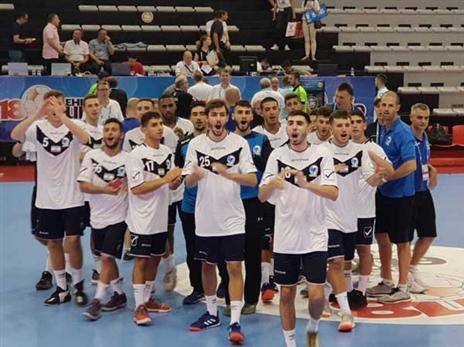 שחקני הנוער באליפות אירופה עד גיל 18 (צילום: EHF)