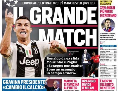 העיתונים באיטליה לא יכולים לחכות (טוויטר)