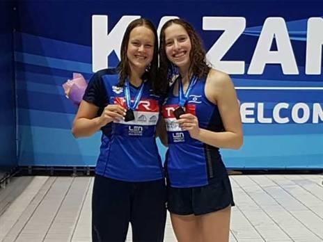 5 מדליות למשלחת. גורבנקו ופולונסקי (איגוד השחייה)
