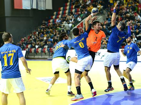משחק אגרסיבי בחצי הגמר הראשון (גבי אלאלוף, איגוד הכדוריד)