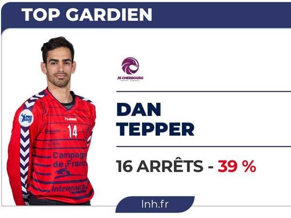 טפר, מצטיין המשחק האחרון של קבוצתו בצרפת
