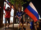 בית חם: אוהדי רוסיה רוסיה חגגו ברחוב