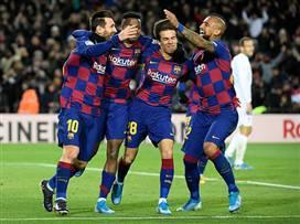 ברצלונה חוגגת ניצחון ראשון תחת סטיין (Getty)