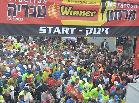 שובר שיאים. מרתון טבריה (צילום: אלי סבתי)