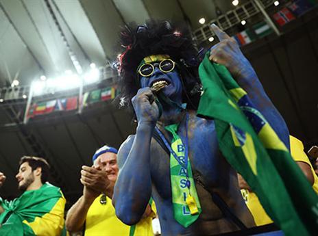 הקהל הברזילאי. ערב מותח במרקאנה (Getty)